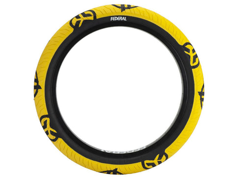 Federal Command LP Tyre - Yellow With Black Logos And Sidewall 2.40""