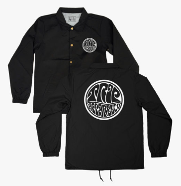 Black Psych Coach Jacket Hoodles