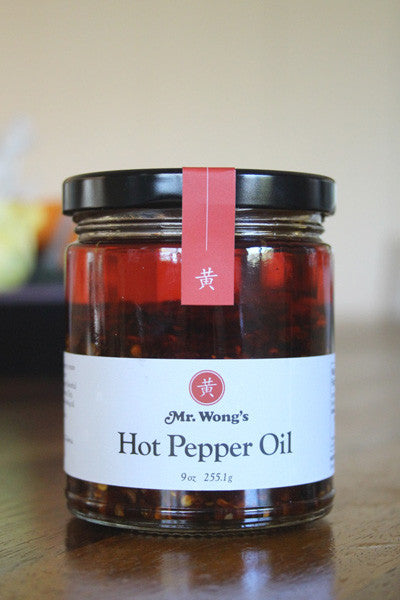 Mr. Wong's Hot Pepper Oil is the perfect spicy addition to your favorite foods.