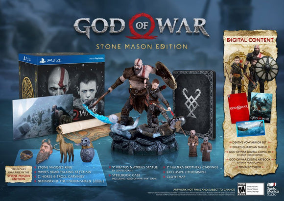 GOD OF WAR STONE MASON EDITION SEMINUEVO*
