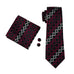 Black, Light Gray and Red Necktie Set LBW1104