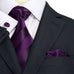 Eggplant Purple Stripe Silk Necktie Set JPM1822N