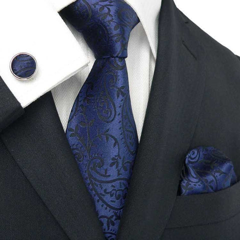 Blue Black Paisley JPM18324