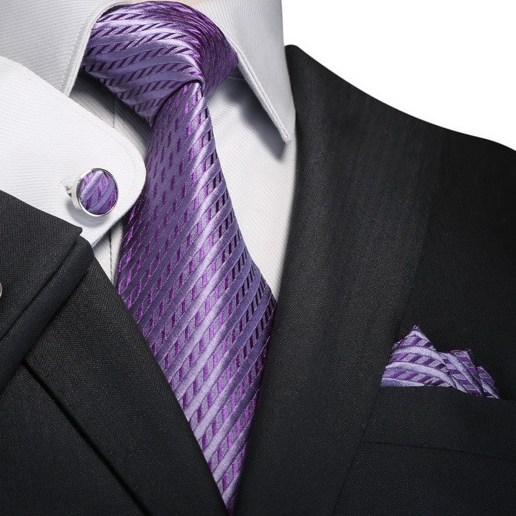 Light Purple Silk Necktie Set JPM18645 - Toramon Necktie Company