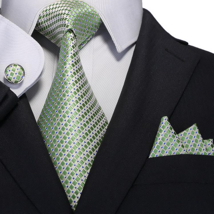 Green and Gray Silk Tie Set JPM18A68