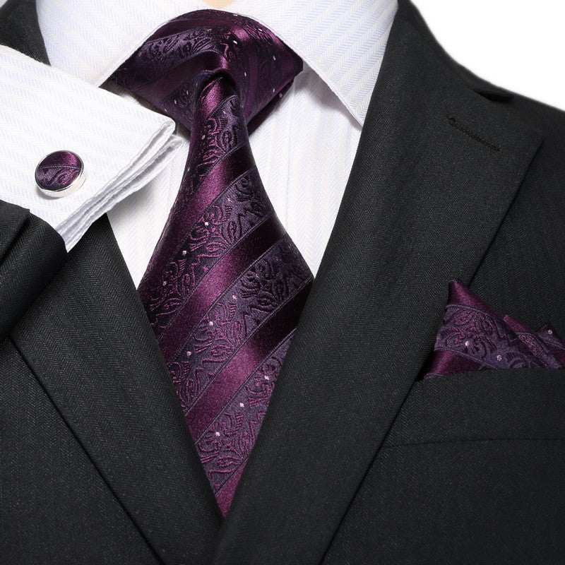 Purple Stripe Necktie Set JPM18A81