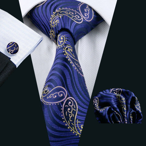 Purple,Gold and Pink Necktie Set LBW518