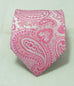 Pink and White Paisley Necktie Set JPM57A