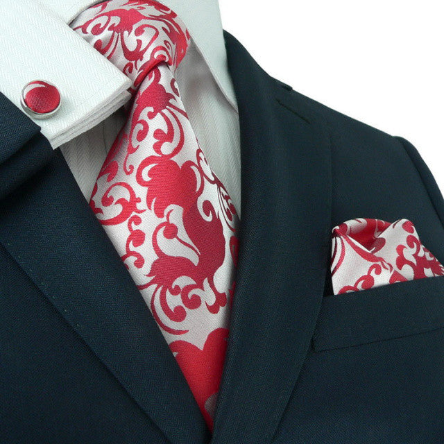 Red Floral Necktie Set  JPM86F