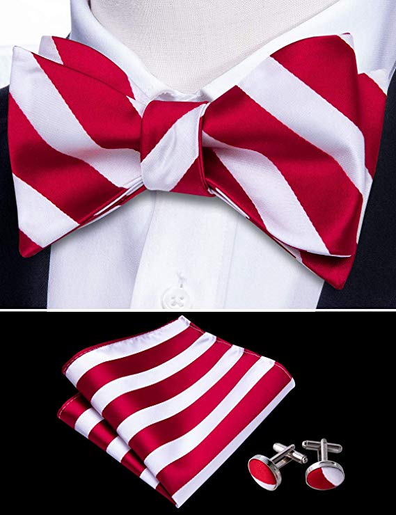 Red and White Bow Tie Set-BTSYO500