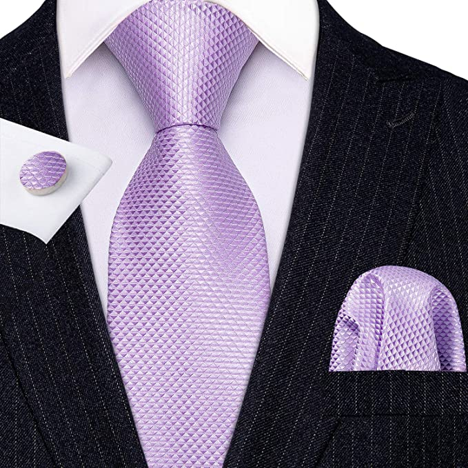 Lilac Silk 3 Piece Tie Set- LBW617
