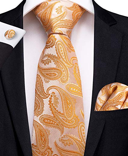 Orange Lobster Necktie Set-DBG441