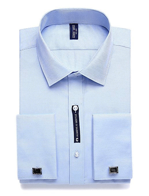 Blue French Cuff Dress Shirt FCDS68