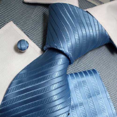 Lt. Blue Silk Necktie Set FE1124
