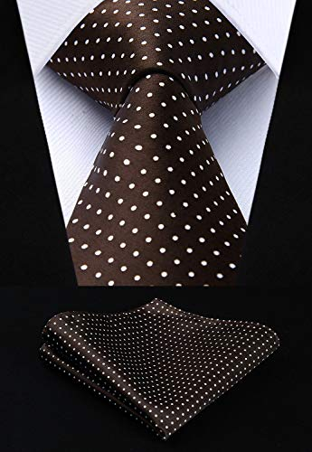 Brown and White Polka Dot HDN502