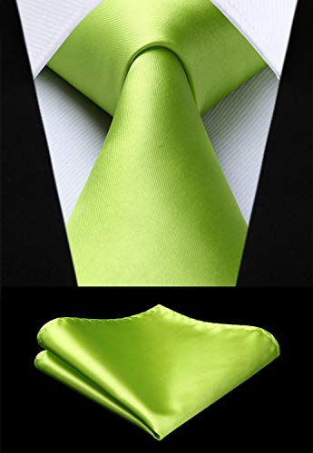 Apple Green Solid Wedding Necktie Set HDN514