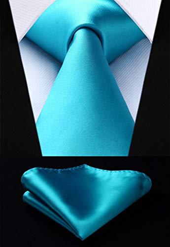 Aqua Wedding Necktie Set HDN515