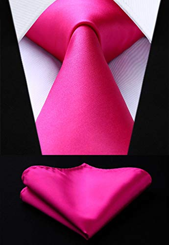 Deep Pink Wedding Necktie Set HDN516