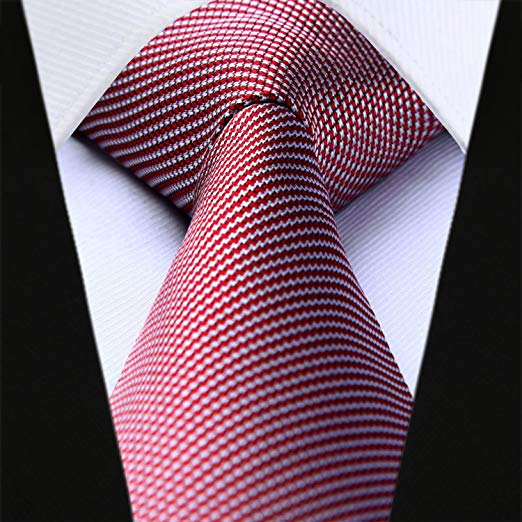White and Red Houndstooth Necktie Set HDN528
