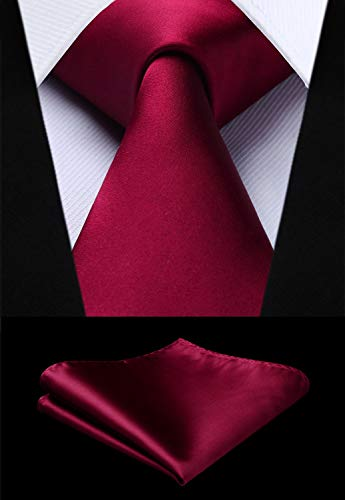 Burgundy Wedding Necktie Set HDN529