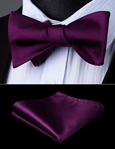 Egg Plant Solid  Bow Tie Set HDNX11