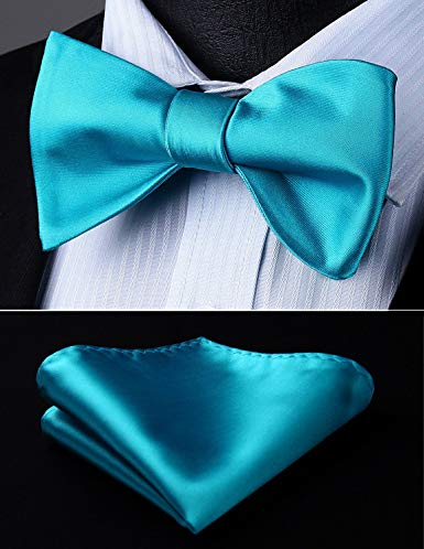 Teal Solid Bow Tie Set HDNX13