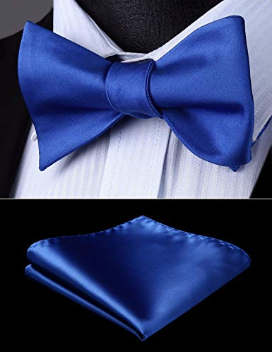 Cobalt Solid Bow Tie Set HDNX16