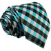 Teal ,Gray and Black Silk XL Necktie Set JXPP13