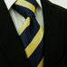 Navy and Gold Silk XL Necktie Set JXPP27