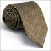Dark Khaki Brown Silver Polka Dot Necktie Set JXPY16