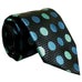 Black and  Dark Turquiose Polka Dot JXPY18