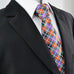 Multicolor Check Silk Necktie Set JXPY26