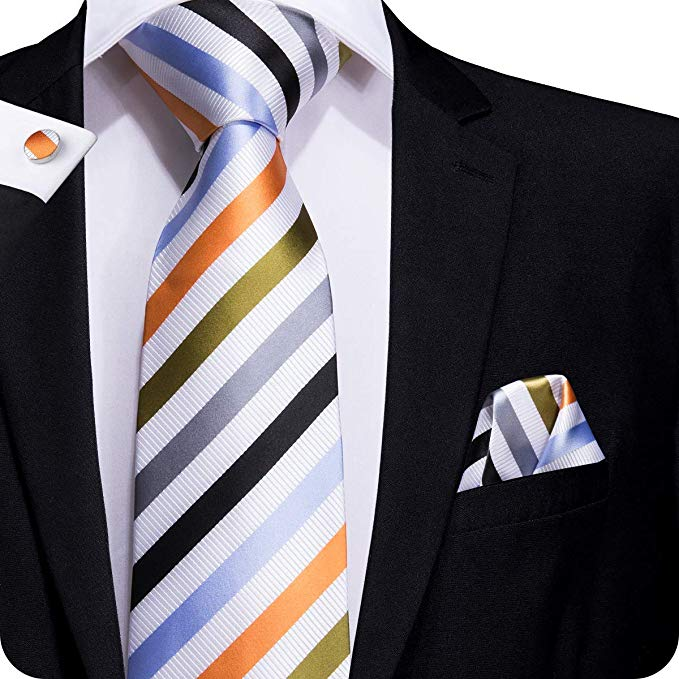 Multi Color Silk Necktie Set LBW220