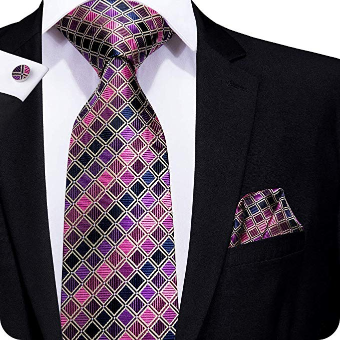 Blue Pink Purple Tie Set LBW241