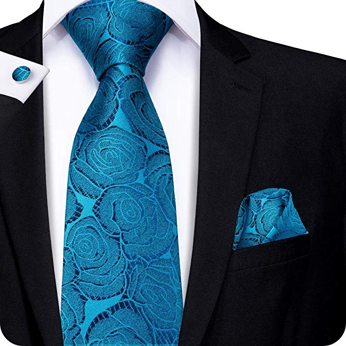 Blue Rose Tie Set LBW253