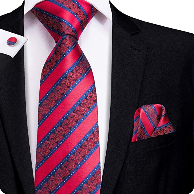 Red and Blue Necktie Set LBW-306