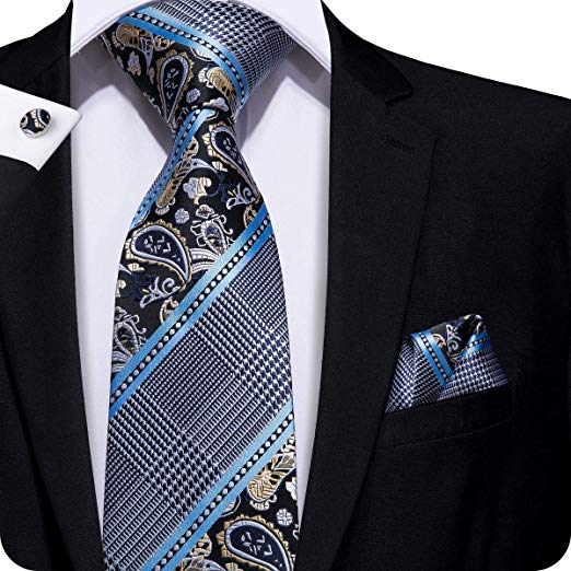 Blue and Gray Necktie Set  LBW-309
