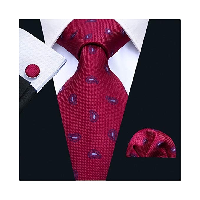 Burgundy and Blue Tie Set LBW5027