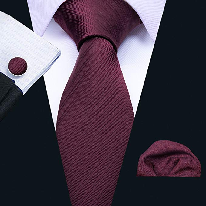 Plum Silk Necktie Set LBW5085