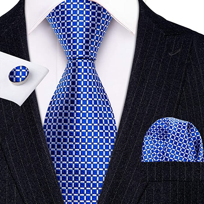 Blue and White Tie Set-LBW619