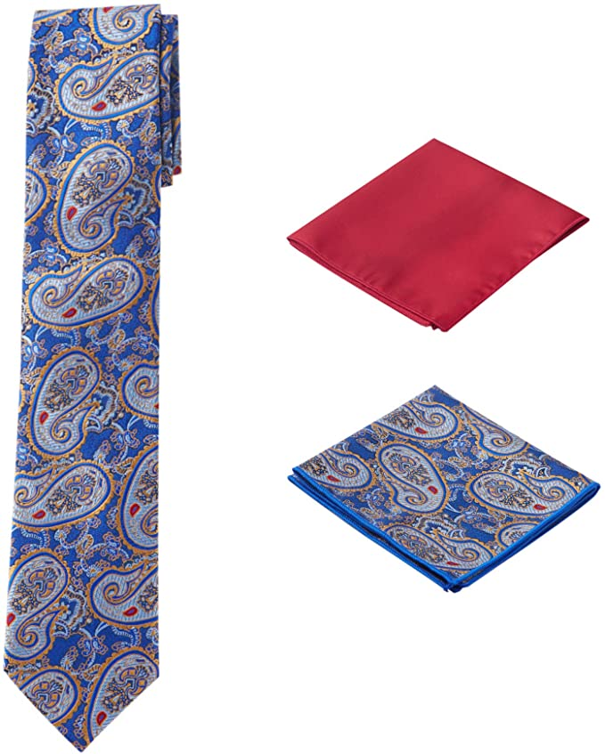 Blue and Red Necktie Set- PPS340