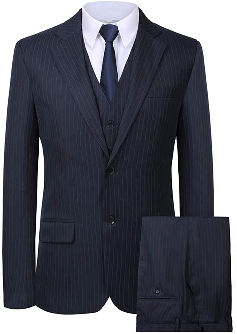 Mens Blue 3 Piece Dress Suit-SUT103