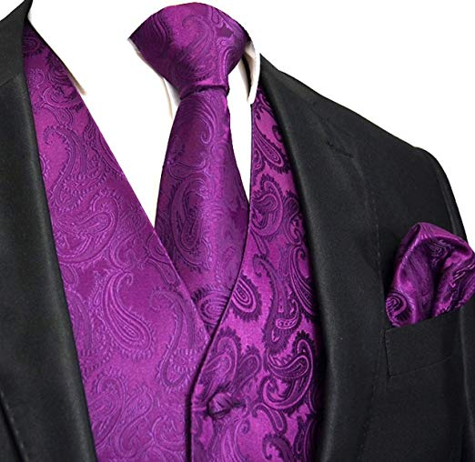 Dark Purple Tuxedo Vest Set-VS103