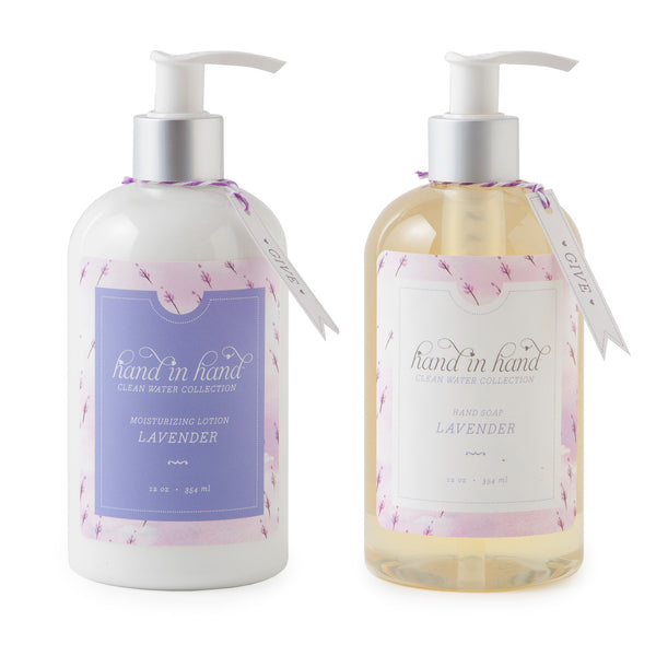 Lavender Liquid Hand Soap & Lotion Set