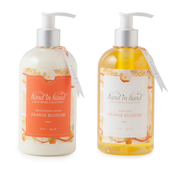 Orange Blossom Liquid Hand Soap & Lotion Set