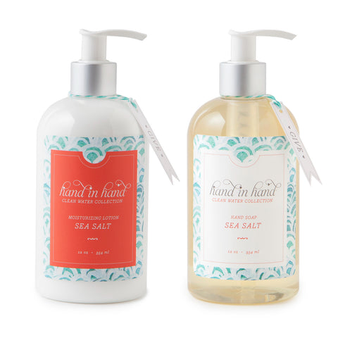 Sea Salt Liquid Hand Soap & Lotion Set