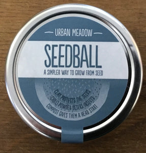 Seedball Urban Meadow Tin (20x balls, 30 UK wildflower Seeds)
