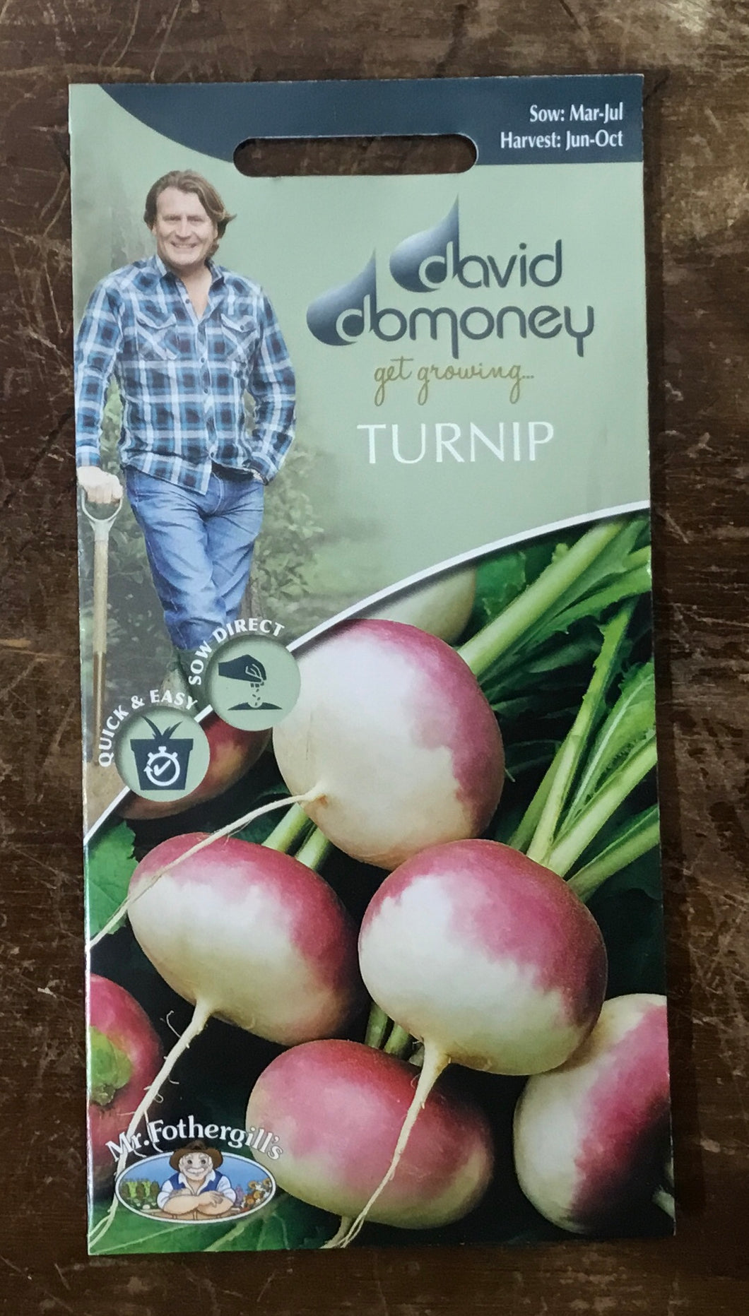 Turnip Purple Top Milan - David Domoney Vegetables