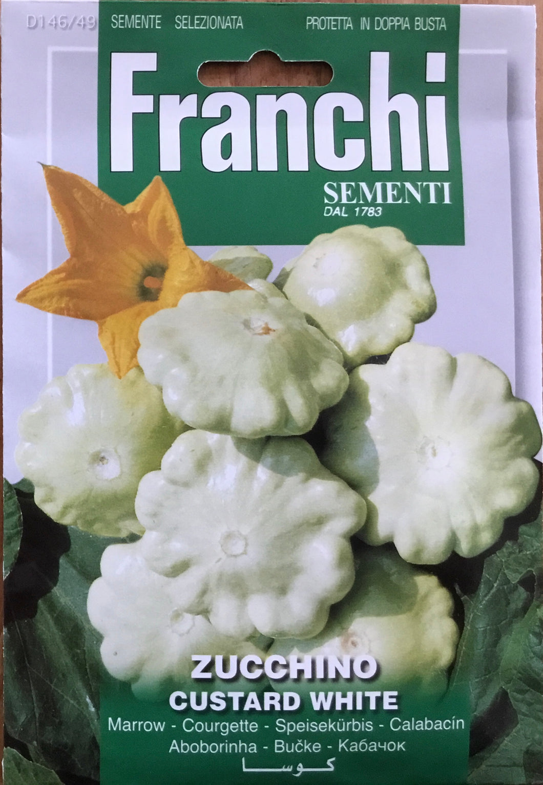 Franchi of Italy Courgette custard white