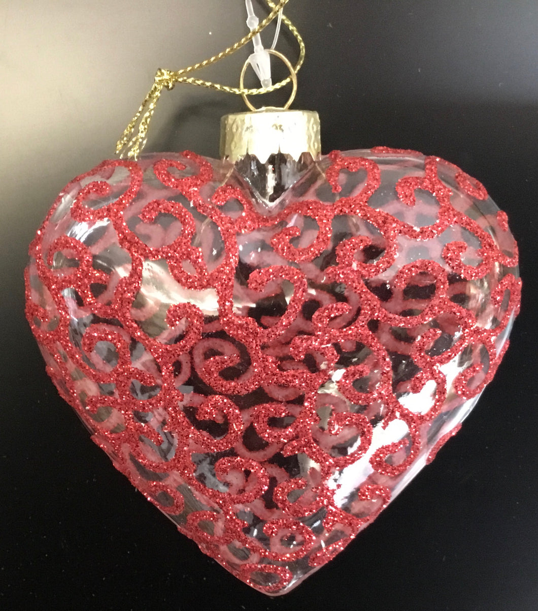 Red Glass Heart 02298